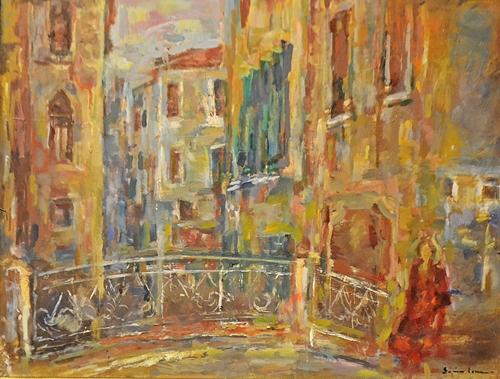 Sorin Ionescu (1913 - 1999) Pod la Veneția A bridge in Venice