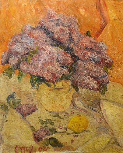 Coca Metianu (1910 - 2014) Vas cu flori/ Vase with flowers