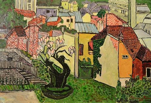 Ion Minoiu (1931 - ) Orașul cu magnolii / City with magnolias