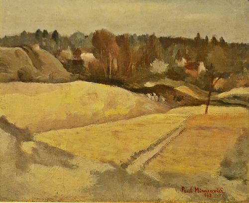 PAUL MIRACOVICI (1906 - 1973) Iarnă la marginea satului/ Winter near the village