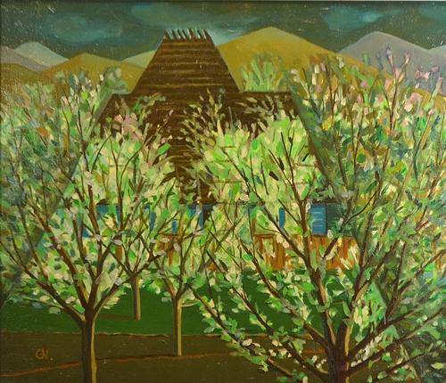 Gil Nicolescu (1942 - ) Livada inflorită / Orchard in bloom