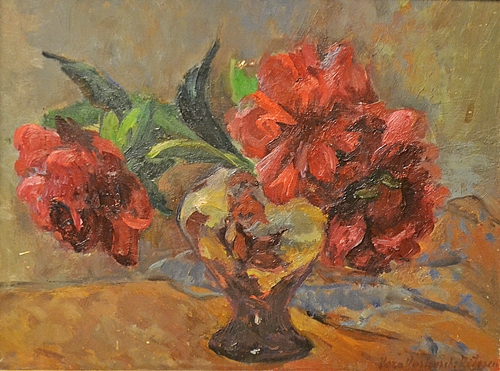 Veslovschi Nitescu Vera (1901 - 1974 ) Vas cu bujori / Peonies on the vase