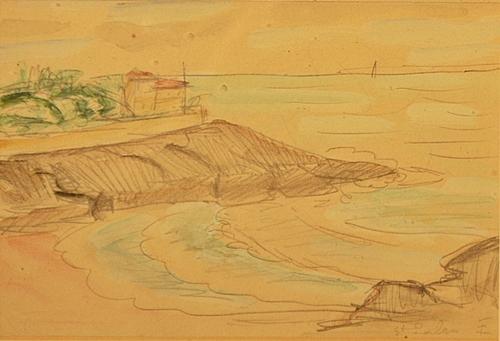 Theodor Pallady (1871 - 1956) Plajă la St. Palais / Beach at St Palais