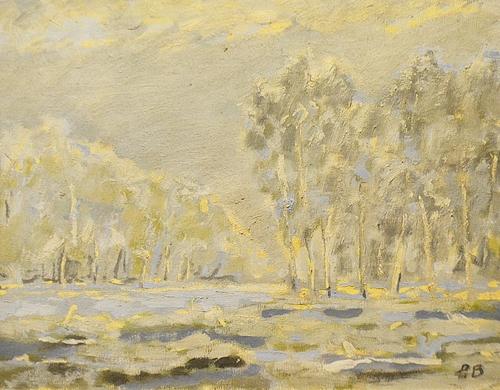 Bogdan Pietriș (1945 - 2006) Peisaj în Deltă/ Landscape in the delta