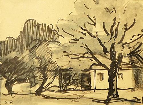 Ștefan Popescu (1872-1948) Casa din livadă / House in the orchard