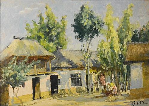 Constantin Isachie  Popescu (1888 - 1967) Munci de primavară / Springtime work