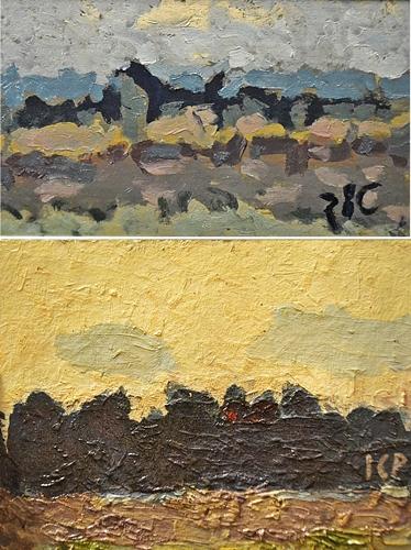 Ion Cristian Popescu (Pic) Două lucrări / Two paintings