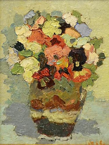 Ion Cristian Popescu (Pic) Vas cu flori / Vase with flowers
