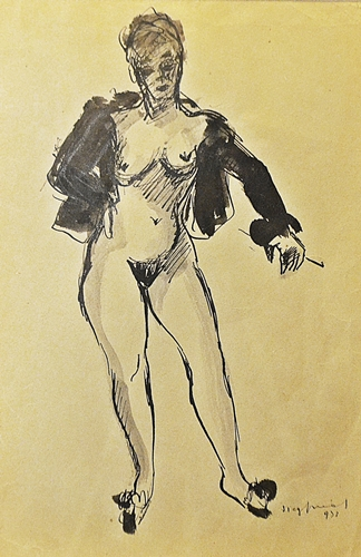 Wladimir Siegfried (1909 - 1982) Probă de costum / Fitting on the costume