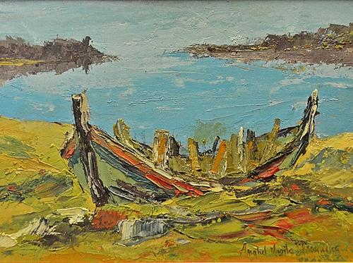 Anghel Vasile Siminiuc Barca la mal / Boat at the shore