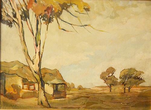 Iosif Steurer (1885 - 1971) Peisaj de toamnă / Autumnal landscape