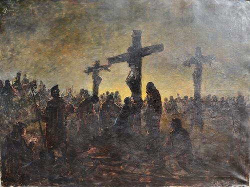 Eustațiu Stoenescu (1884 - 1957) Scenă biblică / Biblical scene
