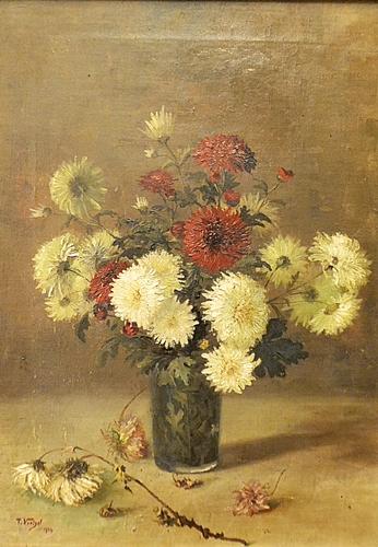 Anton (Tony) Ventzel (1858 - 1917) Flori de toamnă/ Autumn flowers