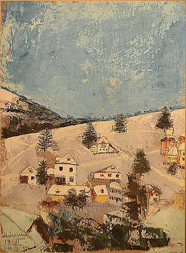 MEDI (MARGARETA) WECHSLER DINU (1908-2016) Iarna pe deal / Winter on the hill