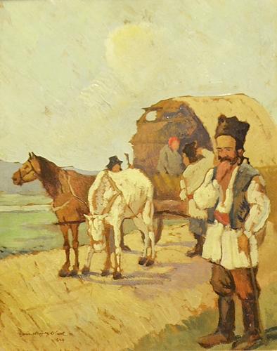 GHEORGHE ZAMPHIROPOL DALL (1883 - 1951) În bejenie/ Wandering