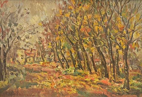 Partog Vartanian (1898-1954) Drumul de lângă pădure/ Road near the forest