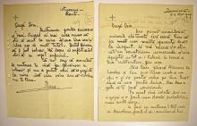 Doua scrisori olografe semnate Principesa Ileana