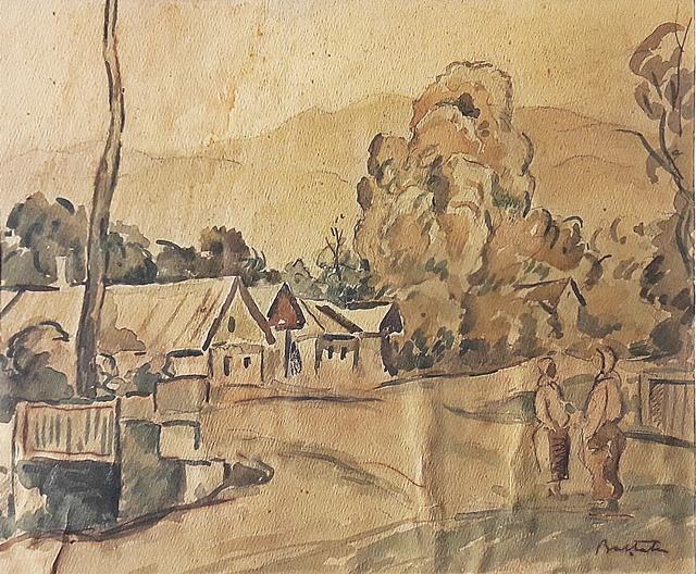 Adam Bălțatu (1889-1979) - Peisaj la țară/ Rural landscape