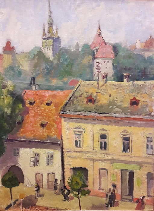 Ana Asvadurova Ciucurencu (1903-1972) - Peisaj din Sighisoara / Landscape in Sibiu