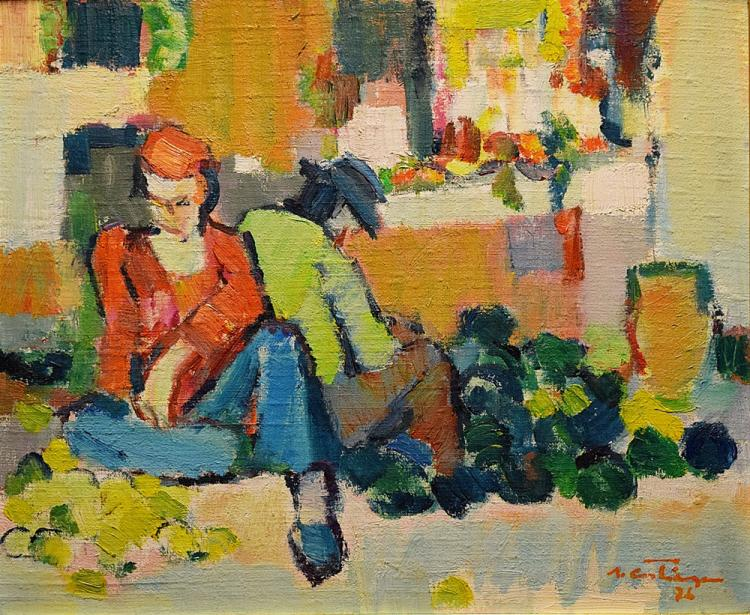 Augustin Costinescu (1934- ) - Vânzătorii de pepeni / Sellers of melons