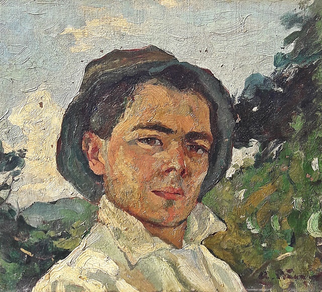 Băeșu Aurel (1896 - 1928) - Tânăr cu pălărie / Youngman with hat