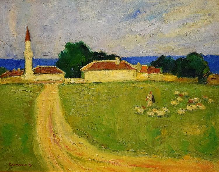 Cernescu Nicolae (1895 - 1979) - Peisaj dobrogean/ Landscape from Dobrogea