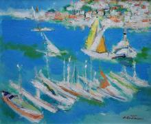 Augustin Costinescu (1934- ) Mediterana la Sorento / Meditarean Sea at Sorento