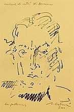 COSTINESCU AUGUSTIN (n. 1943 ) Portretul criticului de artã V. Mocanu