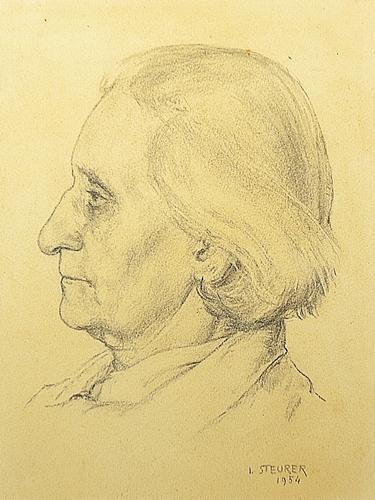 STEURER IOSIF ( 1885-1971 ) Portretul Mariei Ciurdea Steurer / Mariei Ciurdea Steurer Portrait