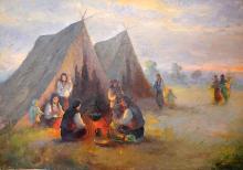 SAMUEL BOGDANOVICI În jurul focului/Around the fire