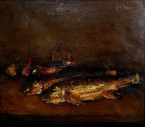 MIRCEA CIOBANU Natură statică cu pești/Still Life with Fish