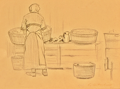 CONSTANTIN ARTACHINO Spãlãtoreasã / The laundress