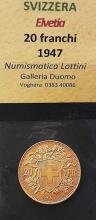 Moneda de aur de 20 fr./ 29 Fr. Gold Coin