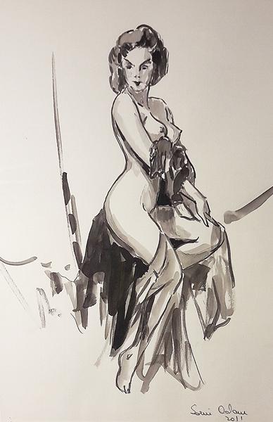 Adam Sorin (1968 - ) Nud în atelier / Nude in artist's studio