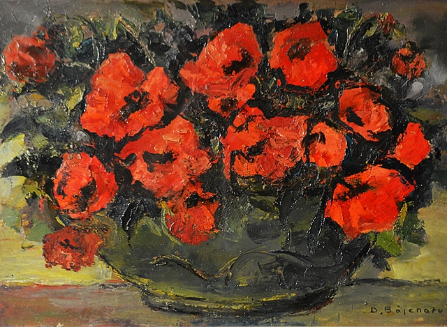 Băjenaru Dan (1900-1988) Vas cu maci / Vase with poppies