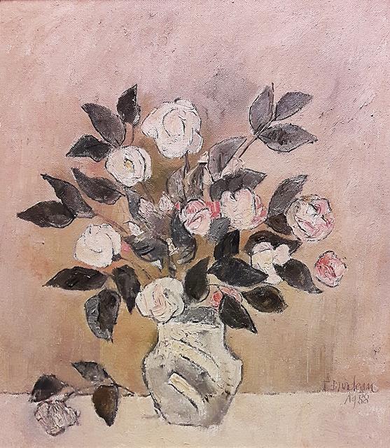 Brădean Traian (1927-2013) Vas cu flori / Vase with flowers