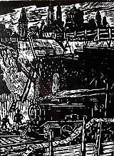 Carol Hubner (1902-1981) Locomotiva / The Locomotive