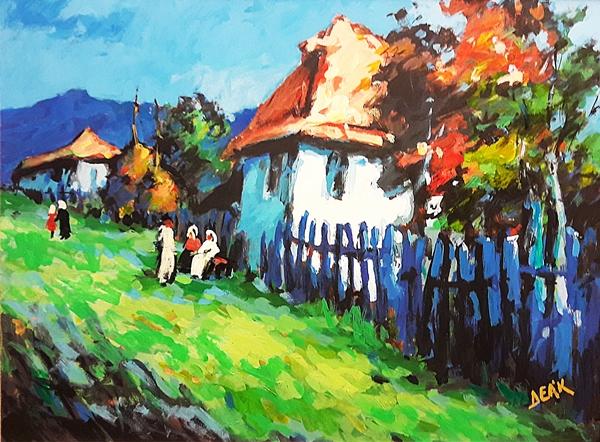 Deak Janos (n.1928) Sat lângă Baia Mare / Village near Baia Mare