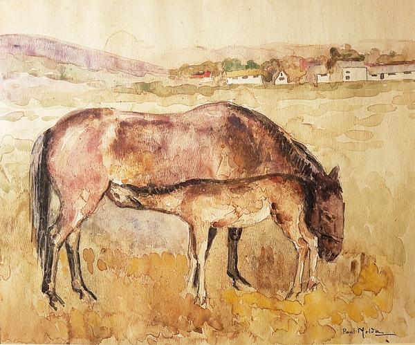 Molda Paul (1884-1955) Cai / Horses