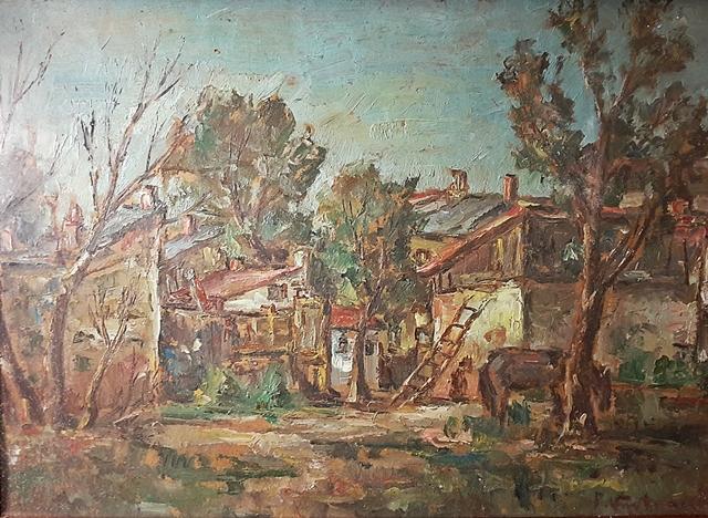 Partog Vartanian (1898-1954) Gospodărie țărănească / Peasant household