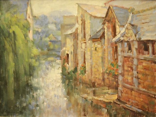 Rădeanu George  (1950-) Case la Pont Aven - Franța / Houses in Pont Aven- France