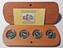 Set de patru monede de aur