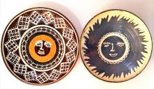 2 Farfurii cu model solar- Horezu / 2 traditional romanian plates