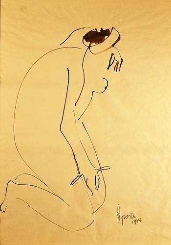 George Apostu (1934 - 1986) - Nud / Nude