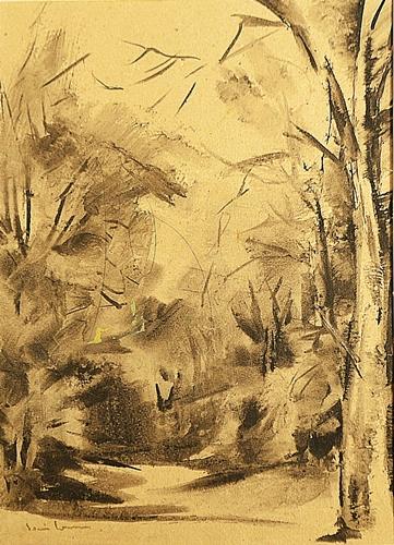 Sorin Ionescu (1913 - 1999) - Drum în pădure / Road in the forest