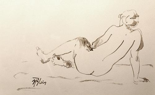 NICOLAE BLEI Nud așezat/Seated Nude