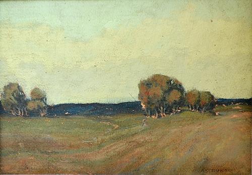 IOSIF STEURER Peisaj pe înserat/Landscape at sunset