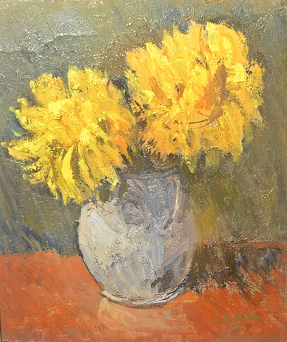 GHEORGHE IONESCU Vas cu flori galbene/Vase with yellow flowers