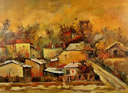 BLEI NICOLAE (n. 1949 ) Peisaj din Câmpina - Landscape in Câmpina