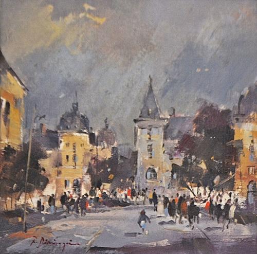 RADU DĂRÂNGĂ (n. 1944 ) București - vedere spre Rosetti - Bucharest - view to Rossetti Street